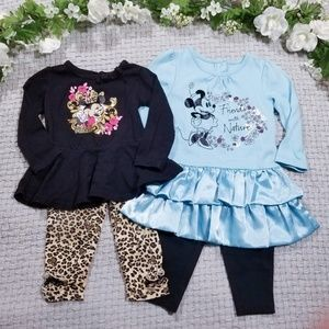Disney baby girl 12m Minnie Mouse outfits/dress